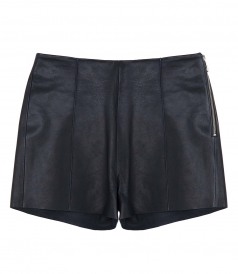 CLOTHES - PIN TUCK LEATHER SHORTS