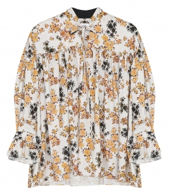 CLOTHES - TIE-SLEEVE OVERSHIRT IN DITSY FLORAL PRINT