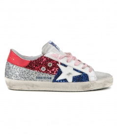 MULTI GLITTER SUPERSTAR SNEAKERS
