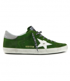 LIME SUEDE SUPERSTAR SNEAKERS