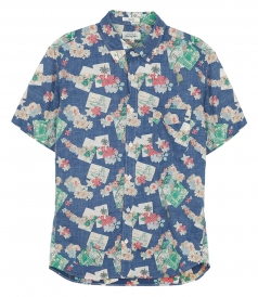 CLOTHES - SIDE SHORT SLEEVE PRINTED SHIRT