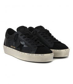 BLACK NABUK HI-STAR SNEAKERS