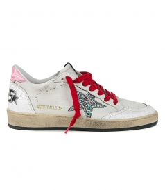 WHITE CRACK BALL STAR SNEAKERS