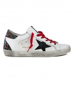SHOES - BLACK SUEDE STAR SUPERSTAR SNEAKERS