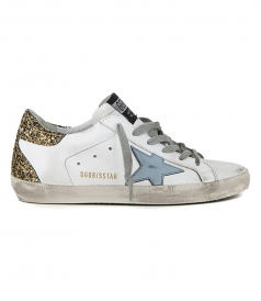 SHOES - GOLD GLITTER SUPERSTAR SNEAKERS