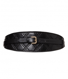 ACCESSORIES - BLACK QUILTED BELT