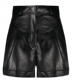 SHORTS - FAUX LEATHER SHORTS