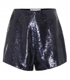 SHORTS - HIGH-RISE SEQUINED SHORTS