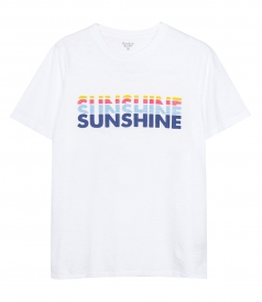 'SUNSHINE' LOGO WHITE T-SHIRT