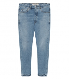 GOLDEN GOOSE  - SLIM-FIT HAPPY JEANS IN COTTON DENIM