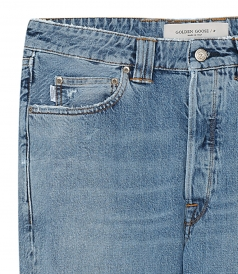 SLIM-FIT HAPPY JEANS IN COTTON DENIM