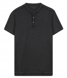 JOHN VARVATOS STAR - HENLEY IN BURNOUT T-SHIRT