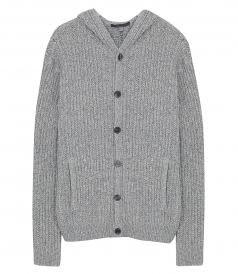 JOHN VARVATOS - HOODED LONG SWEATER