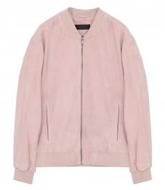 CLOTHES - GOAT SUEDE BOMBER JACKET