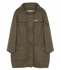 CLOTHES - FLAP-POCKET HOODED PARKA
