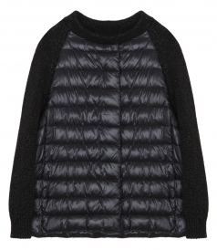 CLOTHES - KNIT-PANEL QUILTED-DOWN JACKET