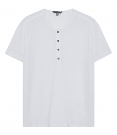 JOHN VARVATOS - SHORT SLEEVE HENLEY