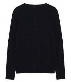 CLOTHES - ADRIAN RIBBED MERC HENLEY