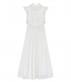 JUST IN - PEGGY EMBROIDERED LONG DRESS