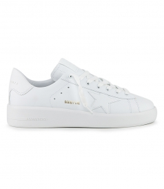 SHOES - WHITE LEATHER PURE STAR SNEAKERS