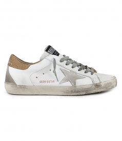 SHOES - LIGHT BROWN LIZARD SUPERSTAR SNEAKERS