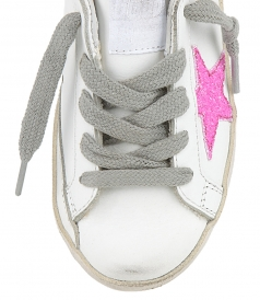 PINK GLITTER SUPERSTAR SNEAKERS