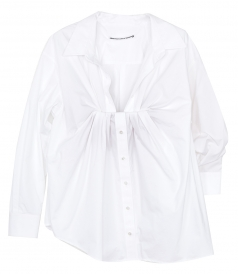 JUST IN - TUCKED BUST OXFORD BLOUSE