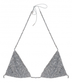 CLOTHES - SILVER BEADS BRA