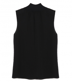 THEORY - RIBBED NECK SHELL TOP
