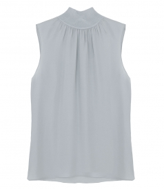 TOPS - RIBBED NECK SHELL TOP