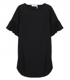 JUST IN - FLARED-SLEEVE DRESS