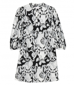 SEE BY CHLOE - PUFF SLEEVE GRAPHIC DRESS