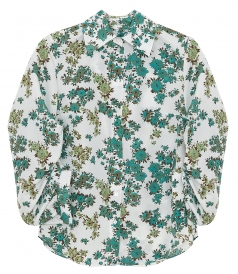 SHIRTS - GATHERED SLEEVE SHIRT IN DITSY FLORAL PRINT