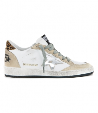 GOLDEN GOOSE  - PEARL SUEDE BALL STAR SNEAKERS