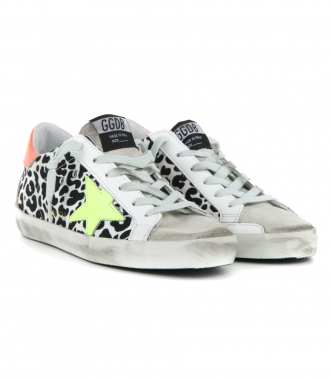 LEOPARD CANVAS SUPERSTAR SNEAKERS
