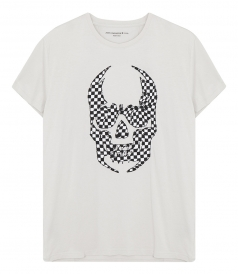 JOHN VARVATOS STAR - APPLIQUE SKULL TEE
