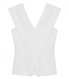 3.1 PHILLIP LIM - KNIFE PLEATED CROSSOVER TOP