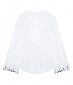 TOPS - FLARED-CUFF BLOUSE