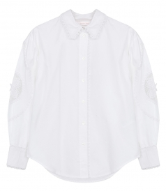 SHIRTS - LACE-INSET SHIRT