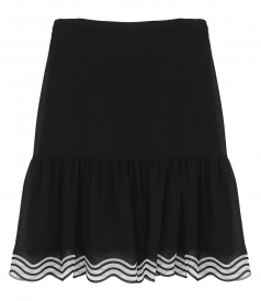 CLOTHES - STRIPED HEM GEORGETTE SKIRT