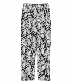 CLOTHES - ABSTRACT PRINT TAPERED TROUSERS