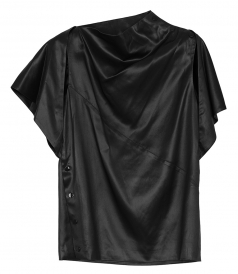 CLOTHES - LACQUERED CAPE TOP