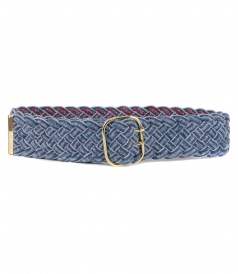 ACCESSORIES - PLAITED DENIM BELT