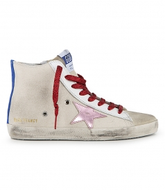 GOLDEN GOOSE  - WHITE CANVAS FRANCY SNEAKERS
