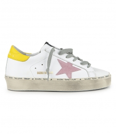 SHOES - PINK SUEDE STAR HI STAR SNEAKERS