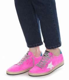 FUCSIA FLUO BALL STAR SNEAKERS