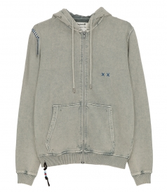 CLOTHES - HOODED ZIPPED SWEATSHIRT