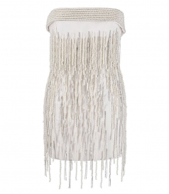 JUST IN - WHITE PEARLS MINI DRESS