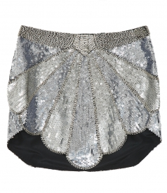 JUST IN - SILVER SHELL MINISKIRT
