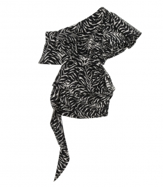 CLOTHES - RUFFLED ZEBRA-PRINT DRESS